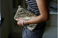 Wholesale Jade Fox Handbags Evening Bags Clutch Sequins Gold Silver Black Pink