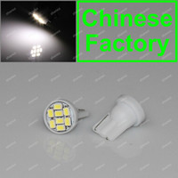 Wholesale 5Pcs T10 W5W White SMD LED Car Signal Side Wedge Light Bulb Lamp V