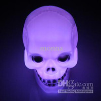 Wholesale 50pc Pumpkin lamp Halloween activities props skull small night light LED electronic terrorist B