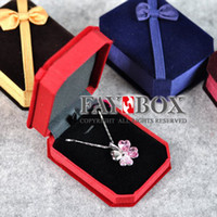 Wholesale 2013 New Marriage Wedding Gift romantic wedding Luxury velvet necklace box jewelry display gift box