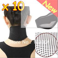 Cheap New 10 pcs Tourmaline Self Heating Magnetic Therapy Neck Wrap Belt Neck Self Heat Brace Neck Support