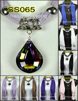 Wholesale women pendants necklaces jewelry scarf fringed beads new Charm jewellery scarves SS065