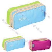 Wholesale canvas bag women travel organizer cosmetic Accessory Makeup Case Bag coin purse wallet pouch