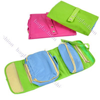 Aluminum Women Bag Hanging Travel cosmetic storage Make up Bag box case phone Organizer Kit wallet coin 2 color 5495