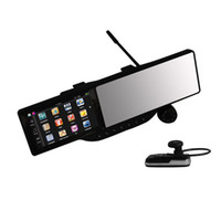 "Gps Navigator 5 800x480 5"" DVR GPS Rear View Mirror One Machine Car GPS Navigation TFT Touch Screen Bluetooth GPS DDR 128MB"