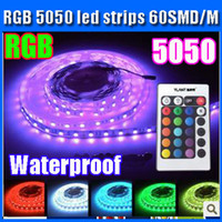 Wholesale RGB Waterproof led strip light SMD led M key IR remote control good quality led strips