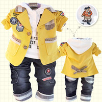 Wholesale 2013 Spring boy suit set clothes Children outwear white hoodies jeans Baby boy leisure suits