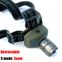 Wholesale Aluminum Strong LED Light Head lamp liumen headlamp modes zoom headlight