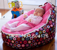 Wholesale pattern base baby seat retail baby bed doomoo seat bean bag baby bean bag