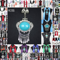 Cotton scarf jewelry - pendant scarf jewelry with beads Mix Design amp color in charms necklace soft scarves DHL Free