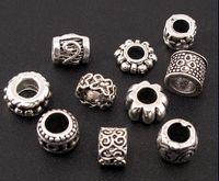 Wholesale Mix pc Tibetan Silver Charm Spacer Beads Fit European Bracelet Jewelry DIY
