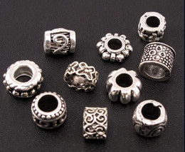 Wholesale Mix Tibetan Silver Dots Flower Swirl Charm Spacer Beads Fit European Bracelet Jewelry DIY
