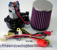 Wholesale DHL Shipping Mini W Electric TURBOCHARGER SUPERCHARGER KIT Car Turbo High quality