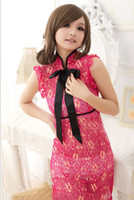 Wholesale Installed transparent Slim Bottom nightclub cheongsam sexy cheongsam sexy lingerie the sauna suits n
