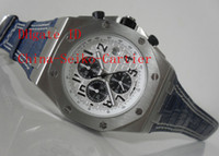 Wholesale Factory Supplier Luxury Royal Oak Offshore Asia Chronograph Mens Watch Blue Leather AAA High Quality Men s Watches