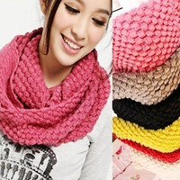 Wholesale AAA pop corn grain knitting wool NECK WARMER SHAWL SCARF Scarves Mixed color fashion scarf warmers