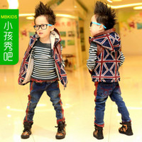 Wholesale single Union Jack brushed Korean children s clothing Vest children coat QY