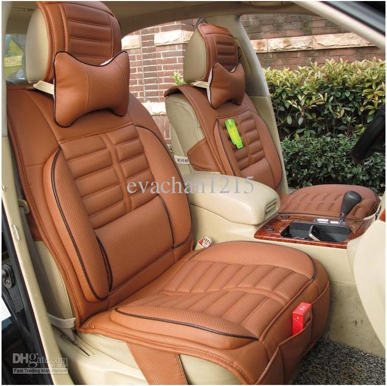 Dark Brown Leather Car Seat Covers