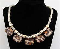 wire choker - 2013 Newest Fashion Elegant Wire Choker Necklaces Leopard Diamond Trendy Fashion Jewellery yw