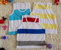 2-8Year shirt t-shirt - Summer Children s Tank Tops Mix random style baby s vest t shirts strip boys girls vest kids t shirt