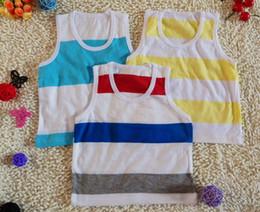 Wholesale Summer Children s Tank Tops Mix random style baby s vest t shirts strip boys girls vest kids t shirt