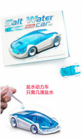 Wholesale Salt Water FUEL CELL CAR Kit Saline Fuel Cell Power Energy Car DIY Assemble Novelty Toy