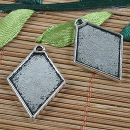 15pcs Tibetan silver picture frame charms H0397