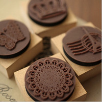 Wholesale set lotThe retroTower Lace Crown Rubber stamp Seal inkpad Set designs