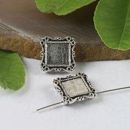 50pcs Tibetan silver table picture frame charms H0399