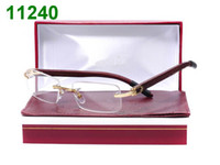 Wholesale 6pcs wooden spectacle frame optical frames rimless eyeglass frames with box tags cleaning cloth