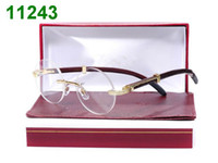 able glass - 6pc half glasses frames half casing glass frame brown metal amp wood arms lucid lens able mix order