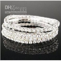 Wholesale Crystal Rhinestone Bracelets Stretchy Rows Bling JB3091S