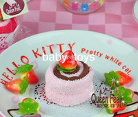 Wholesale 100pcs Small strawberry swiss roll cake towel Gift towel Children s Day gift cotton c