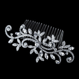 Wholesale Classic Silver Plated High Quality Crystal Bridal Hair Accessory Wedding Bridal Comb