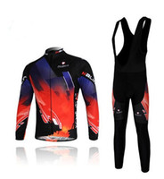 Wholesale Autumn amp Winter Braces Long Sleeves Cycling Apparel Set Road Cycling Jersey Bicycle Clothes
