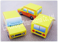 Wholesale DIY Cardboard Folded Car Shaped Favor Box Candy Boxes wedding party favors packing LWB0295B
