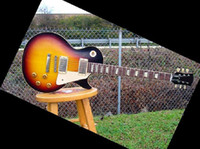 Wholesale best Factory Mahogany guitar Custom Reissue Plaintop Faded Sunburst Burstbuckers electric guita