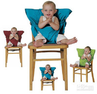 Wholesale 2013 Hot Portable Travel High Chair Seat Cover Dining Baby Fabic Seat Baby Chair Harness Highchair