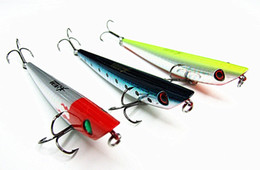 Fishing Lure Popper Hard Plastic Bait VMC Hook Floating Type Two Size Three color High quality