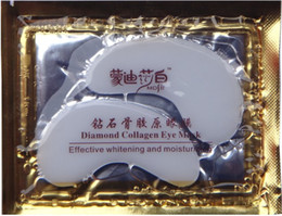 Wholesale 100pcs Diamond Collagen Eye Mask effective whitening and moisturizing