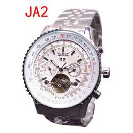 Wholesale JARAGAR nueva cara blanca de la manera relojes de los hombres mecánicos de Tourbillon del acero inoxidable de la zambullida para hombre de lujo suiza hombre del reloj automático de la muñeca grande de mm