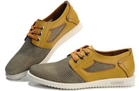 Wholesale 2013 hot saling mesh Men Casual shoes Fashion leather shoes Outsole Cheap Skateboard shoes