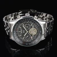 Wholesale jaragar Luxury Swiss Men Mechanical Watches Stainless Sport Dive Mens Automatic Tourbillion