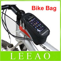 Wholesale 50pcs Waterproof Cycling Bike Bicycle Frame Pannier Front Tube Bag For Cell Phone