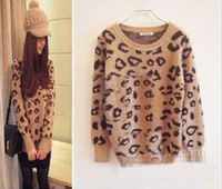 Wholesale 2013 Hot New Arrival Fashion Leopard sweater Women Knitting sweater