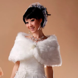 Wholesale 12 Ivory Faux Fur Wrap Bridal Bolero Shawl Prom Ball Shrug Lady s Stole Jacket