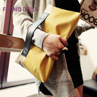 Wholesale FLYING BIRDS Factory Direct Selling New Women Folding Clutchbag PU Leather Women Variety Practic Bag