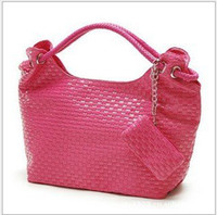 Women Plain PU Hot! 2012 Free Shipping Fashion Women Bag Lady PU Leather Shoulder Bag Elegant Lovely Bag HQ1233