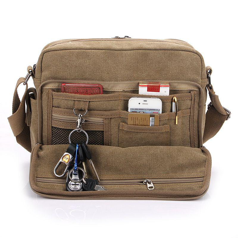 Shoulder Bag With Lots Of Pockets – Shoulder Travel Bag