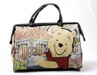 Wholesale FLYING BIRDS new fashion women travel bag portable large capacity luggage bags cartoon bear HD1